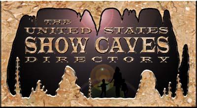 US Show Caves Directory Main Menu - Map of public caves us