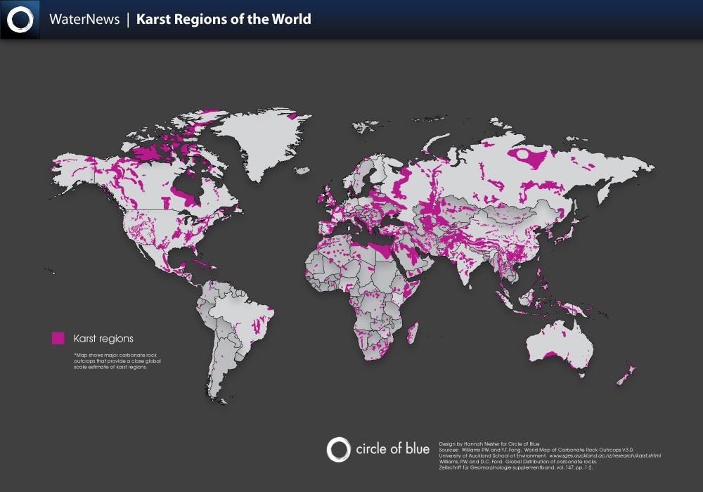 The Virtual Cave Karst - Map of karst topography in us